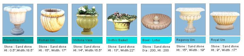 Garden Vases, Garden Urns, Marble Bowls (Цветочные горшки, урны сад, Мраморный Чаши)