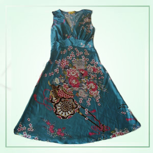 Silk Dress, Beaded & Embroidered Clothing For Lady