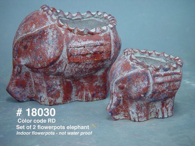 Set Of 2 Flowerpots Elephant (Комплект из 2 Цветочные слон)