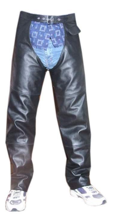 Motorcycle Leather Chaps (Мотоцикл кожа краги)
