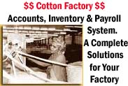Software für Cotton Factory-Konten, Inventar, Payroll-System (Software für Cotton Factory-Konten, Inventar, Payroll-System)
