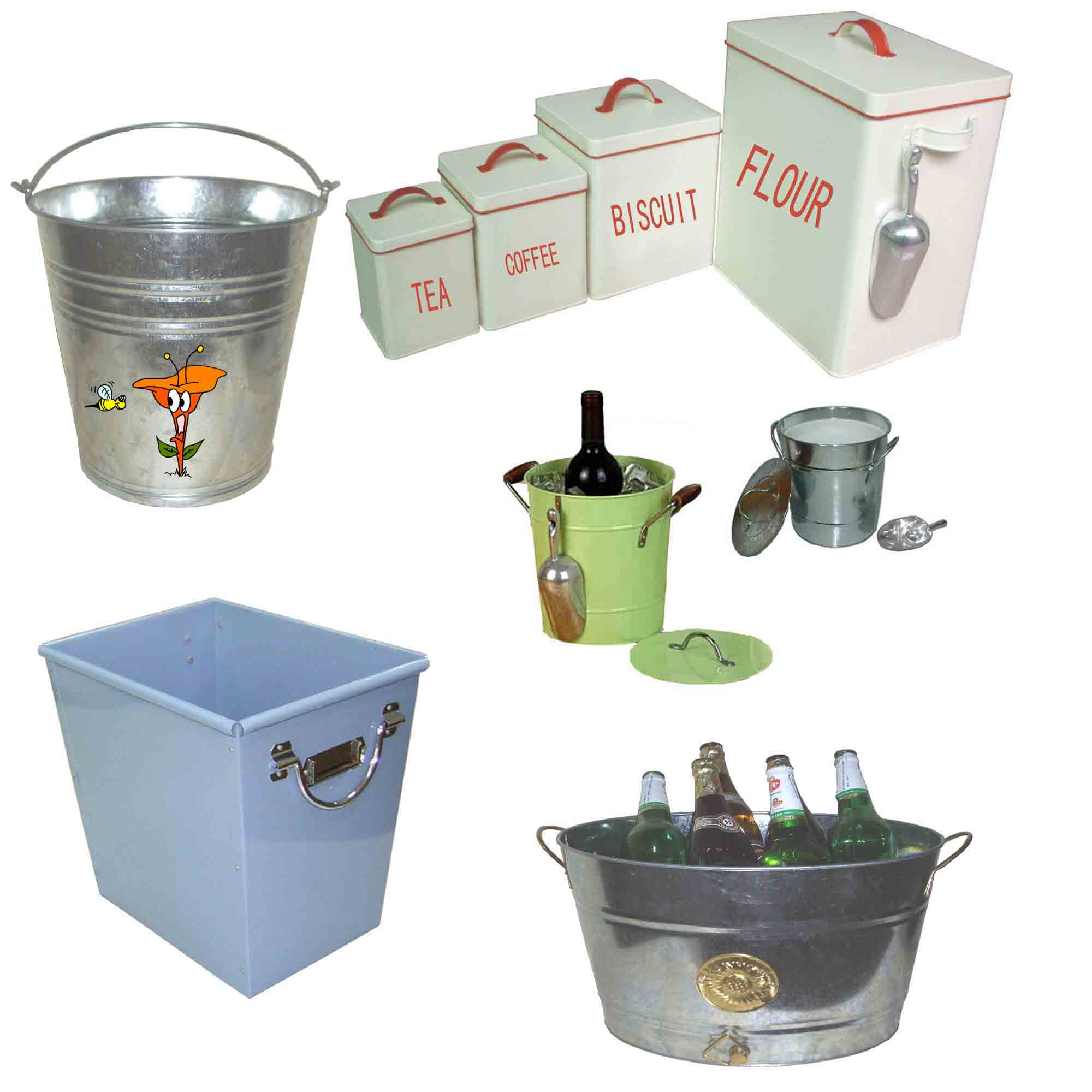 Storage Bin, Gift Box, Tray, Galvanized Tub, Pail (Накопительный бункер, шкатулке, лотки, оцинкованная ванна, ведро)
