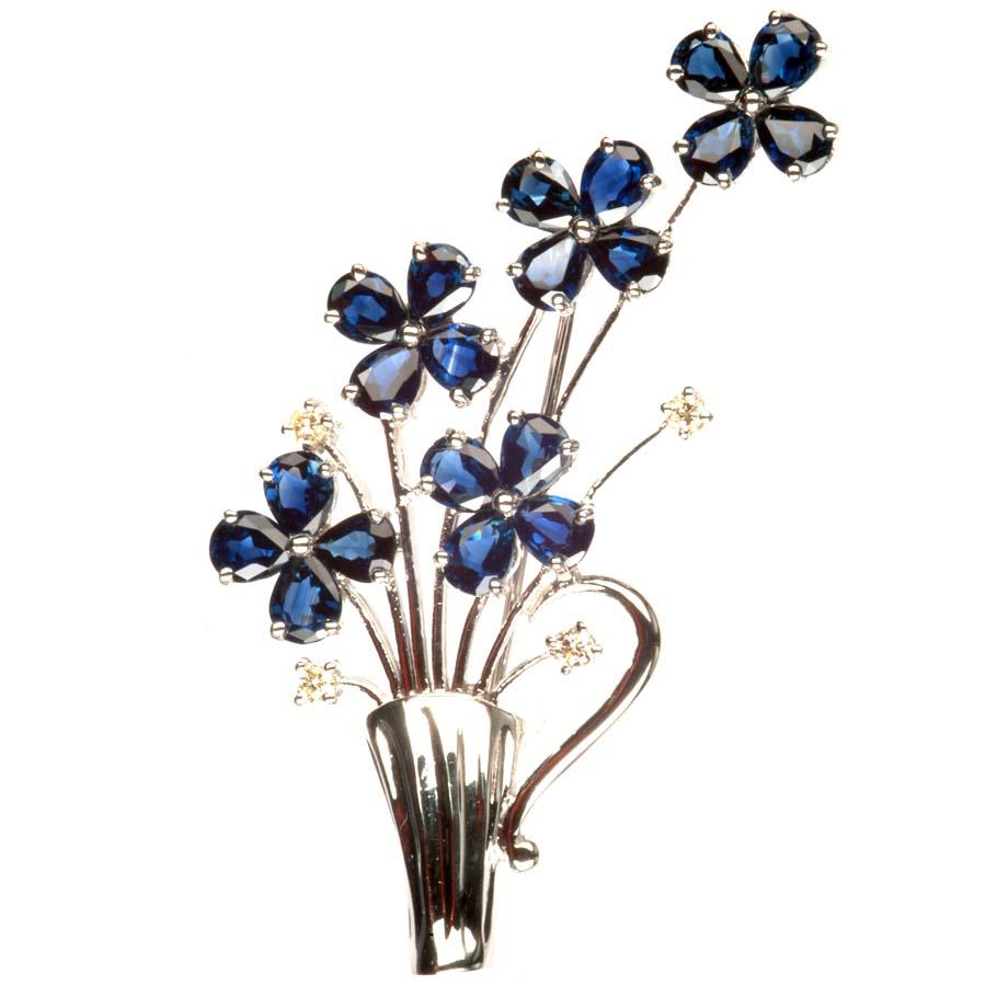 Sapphire pin Flower ( Sapphire pin Flower)