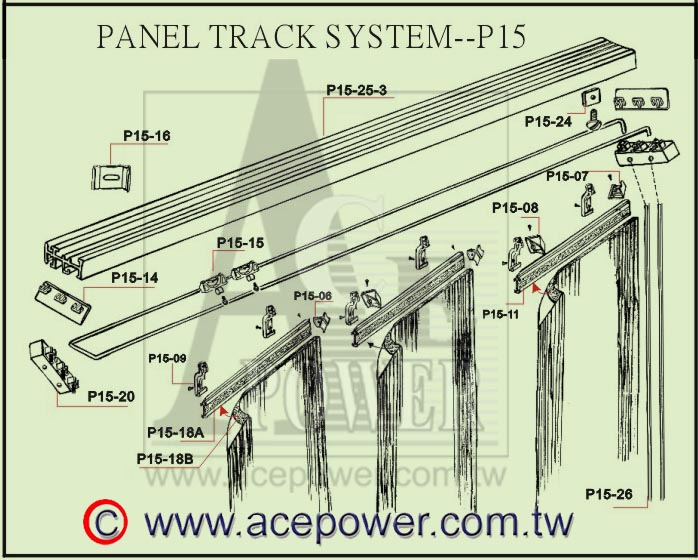 Panel Track Blinds System (Группы Tr k Жалюзи система)