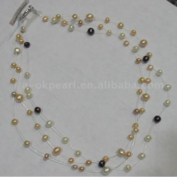 Multi Strands Pearl Necklace (Multi Strang Perlenkette)