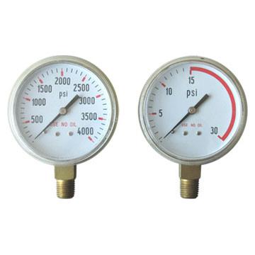 Use No Oil Pressure Gauge (Не используйте масляный манометр давления)