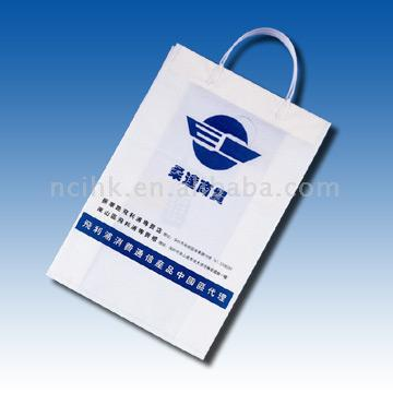 HDPE/LDPE Plastic Bag with Rigid Handle ( HDPE/LDPE Plastic Bag with Rigid Handle)