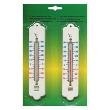 Thermometer aus Kunststoff und Holz Zurück (Thermometer aus Kunststoff und Holz Zurück)