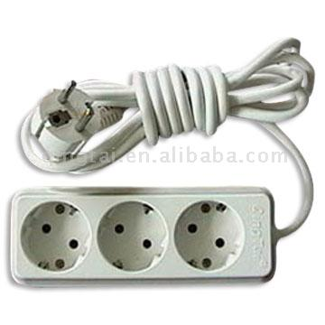 3-Gang Socket with Earthing (3-Gang Socket с заземлением)