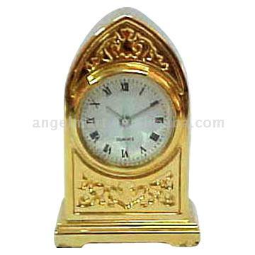 Golden Painted Mini Clock (Золотая роспись мини часы)
