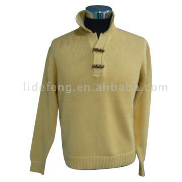 Описание: схема, связать мужской зимний свитер.  Автор: Таира.