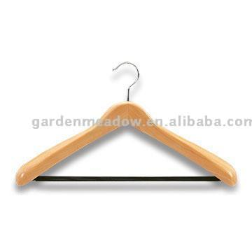 Deluxe Wooden Hanger with Anti-Slip Bar