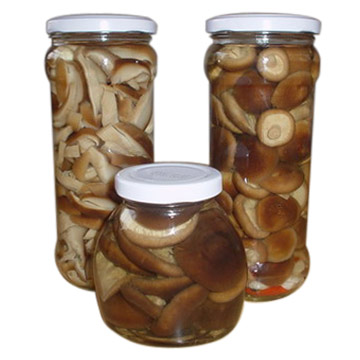 Shiitake Mushrooms In Jar