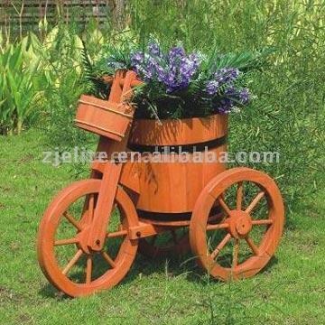 Flower Barrow for Garden Ornament