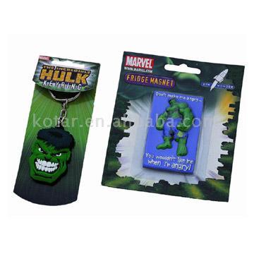 3D PVC Rubber Hanging Label Key Chain