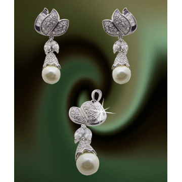 Silver and Cubic Zirconia Pendant (Серебро и кубического циркония кулон)