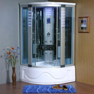 Geschlossene dusche – Sanitär Verbindung