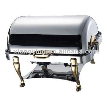 Oblong Chafing Dish with Roll Top Lid (Oblong жаровня с крышкой Roll)