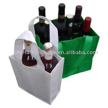 Бутылка сумки.  Green bag features:1) 6 compartments2) Material: 90g