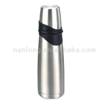 Stainless Steel Vacuum Flask with Plastic Liner(1.0L Newly Designed) (Нержавеющая сталь Термос с пластмассового корпуса (1.0L нового дизайна))