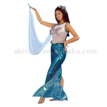 Mermaid costume: adult size S - LPacking:12pcs/ctnCarton dimensions: 60 x 42 ...
