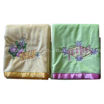Embroidered Babies` Blankets