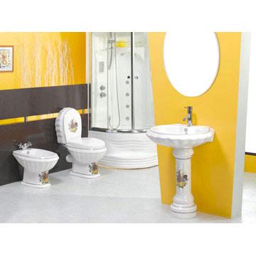 Toilet, Pedestal Basin, Bidet (Туалет, цоколь бассейна, биде)