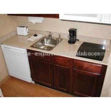 Granite Countertop with Stainless Steel Sinks (Столешница с раковиной из...