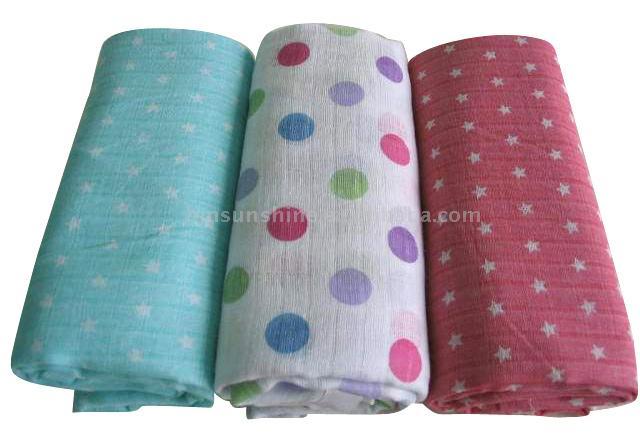 Baby Cotton Printing Muslin Diapers (Baby ситцепечатания Муслин Подгузники)