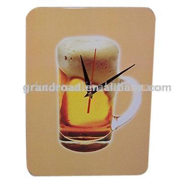 Tin Board with Clock