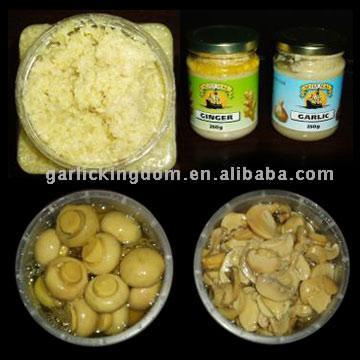 Garlic Paste, Ginger Paste, Canned Mushrooms