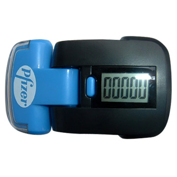 Pedometer with Strong LED Flashlights