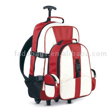 Бренд.  Сумка на колесах с отстегивающимся рюкзаком.  Материал.