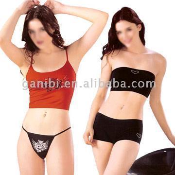 Women`s Camisole, String and Bra top, Boxers (Женский камзол, струнных и Бра сверху, боксеры)