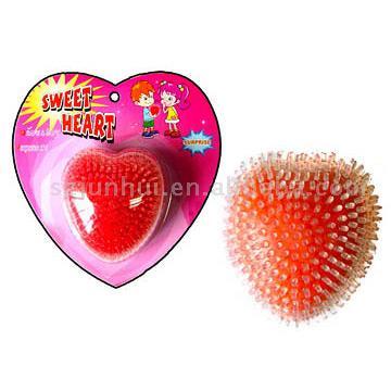 Стресс сердца из бисера Ball.  Форма сердца может дать любителю, чтобы выразить любовь.