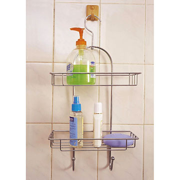 2-Tier Shower Caddy with Hook (2-Tier душ Caddy с крючком)