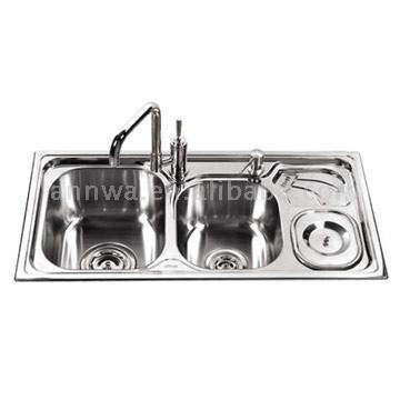 Stainless Steel Double Sink (Нержавеющая сталь двойная раковина)