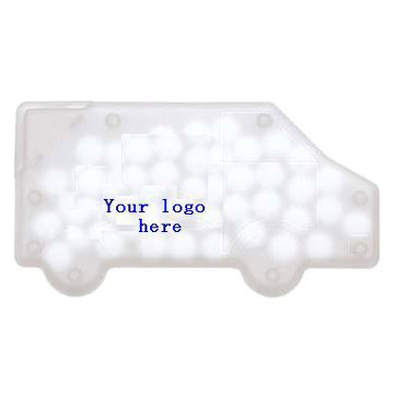 Mints with Truck-Shaped Card Dispenser