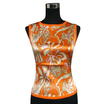 Ladies` Cashmere/Silk Vest