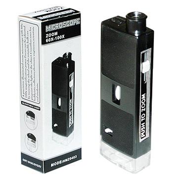 60x-100x Zoom Illuminated Pocket Microscopes (60x 00X Увеличить Освещенная карманный микроскоп)