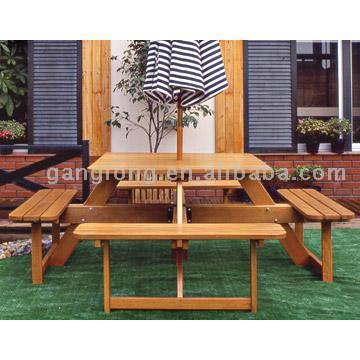 Rest Square Table (Отдых квадратный стол)