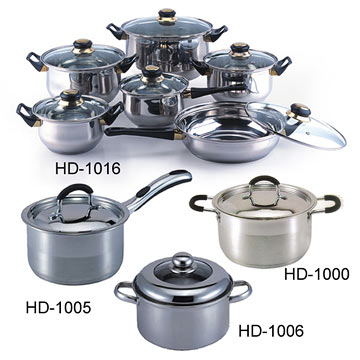 Stainless Steel Cookware Sets (Нержавеющая сталь Наборы посуды)