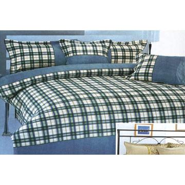 6-Piece Grid Bedding Set (6-Piece сетку Комплекты постельных принадлежностей)