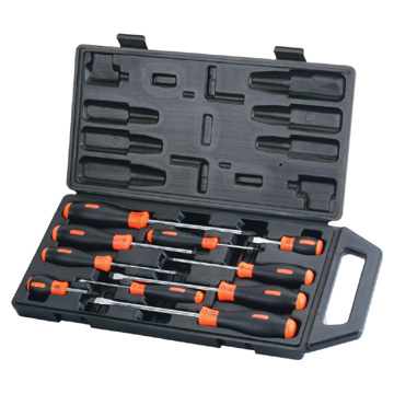 Cushion Grip Screwdriver Set - 10pcs (Cushion Grip Отвертка Комплект - 10шт)