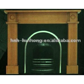 Wooden Fireplace (Деревянный камин)