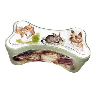 Bone-Shaped Tin Box (Кость-Shaped Box Tin)