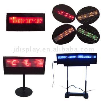 Mini Led Sign / Badge / Message (Мини светодиодная вывеска / Знак / Message)