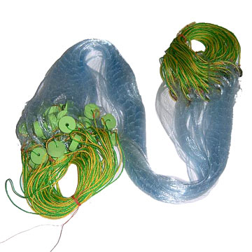 Complete Gill Net with Floats and Lead