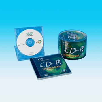 Printed CD-R In Cake Box Pack with Color Label