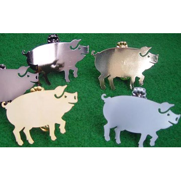 Curtain Clips - Pig
